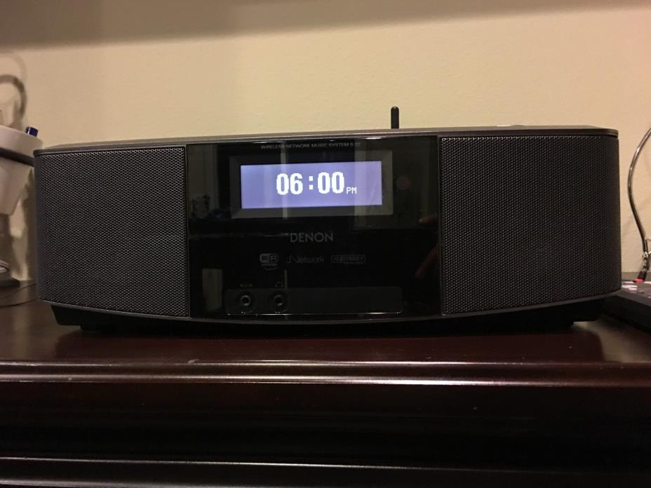 Denon S-32 Internet Radio with Built-in Speakers & 2-Alarm Clock iPod Dock