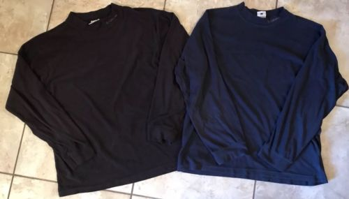 Men's Columbia Fleece Base Layers. Lot Of Two. Both Size Large. Navy And Black.