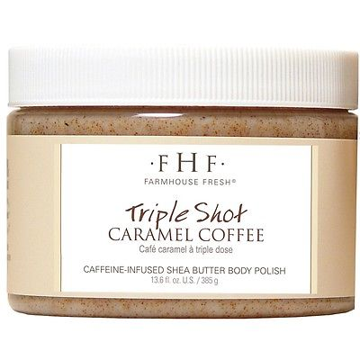 FarmHouse Fresh Triple Shot Caramel Coffee Shea Sugar Scrub 13.6 oz / 385 g