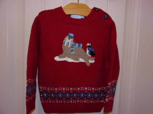 Janie and Jack Boys Adorable Mult Color Sweater 12-18 Months NWTS Free Ship