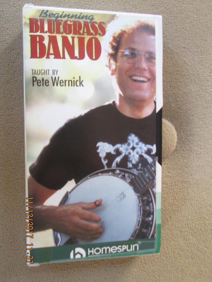 Beginning Bluegrass Banjo Learn to Play Beginner Lessons Homespun Video VHS Tape
