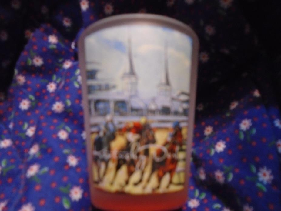 Kentucky Derby Official Churchill Downs Shot Glass by Artist Trish Biddle  NEW