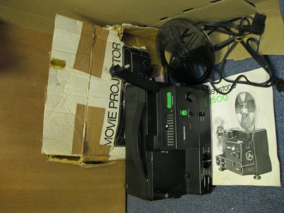 KEYSTONE 2500 PROJECTOR SUPER 8 and 8mm Movie