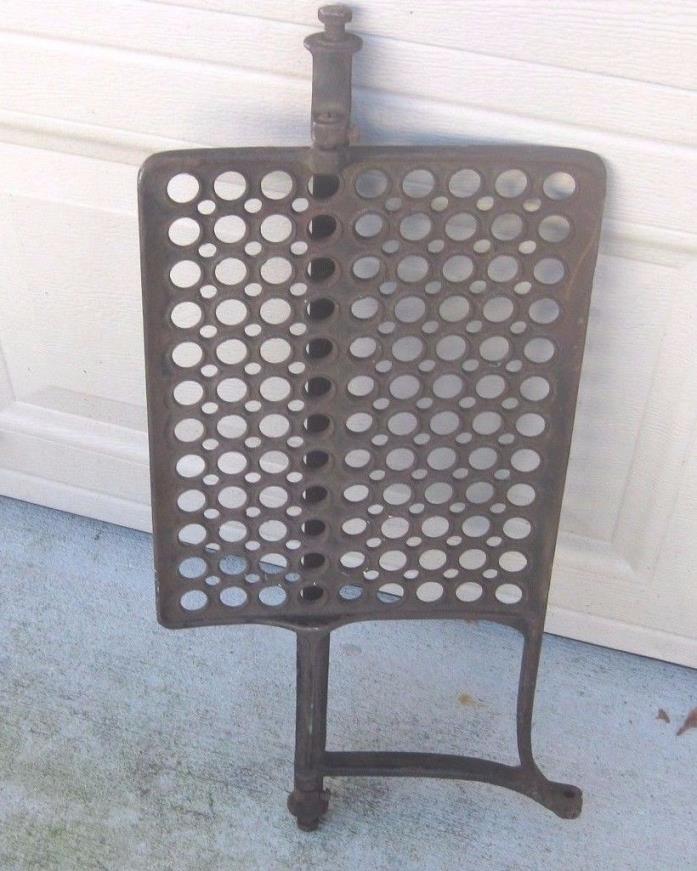 Treadle Vintage Antique Mesh Sewing Machine Foot Pump w/Leg Repurpose