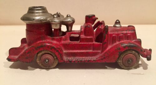 1920's Cast Iron Hubley Fire Truck Toy