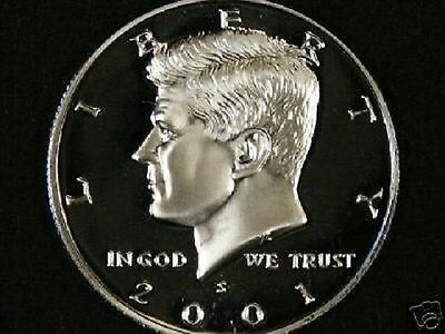 2001 S CLAD PROOF DCAM KENNEDY HALF DOLLAR ROLL (20)