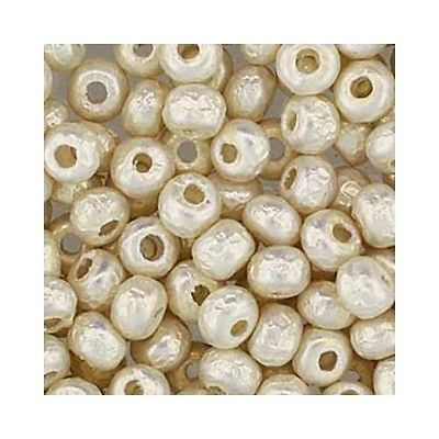 Miyuki Seed Beads 6/0 Baroque Pearl White 6-3951 Glass 6.8g Round Rocaille