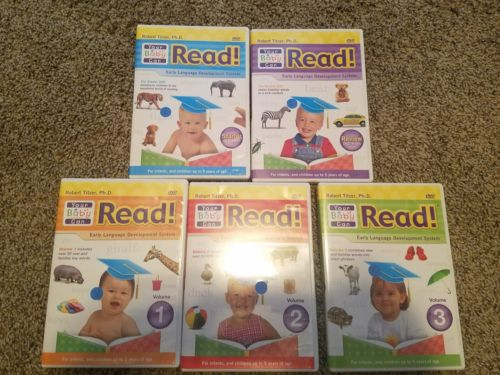 Your Baby Can Read! Early Language Development System Robert Titzer 1-5 DVD set