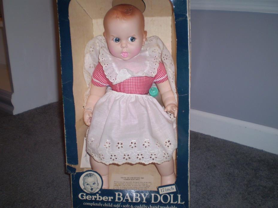 Vintage Gerber Baby Doll 1979 by Atlanta Novelty. Flirty Blue Eyes  original box