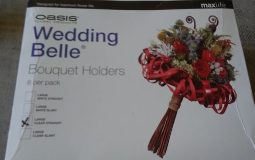 Oasis Wedding Belle Box of 6 Bouquet Holders - Grande clear Handle