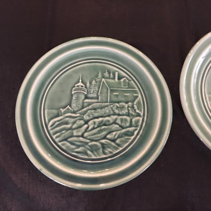 2 Edgecomb Pottery Plates