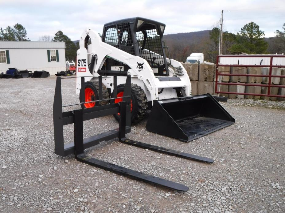 2011 Bobcat S175 Skid Steer Wheel Loader with New Bucket and 48