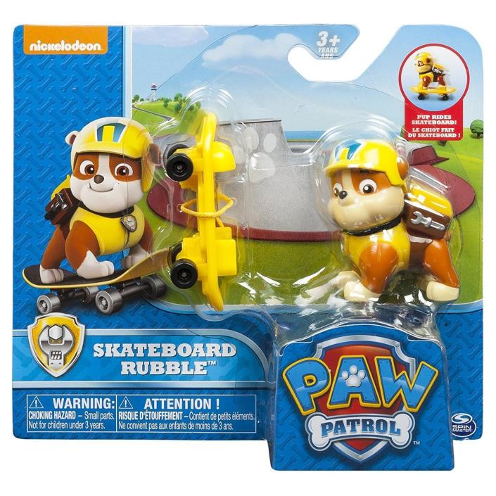 Paw Patrol Winter Rescues Action Pack Pup, Snowboard Rubble