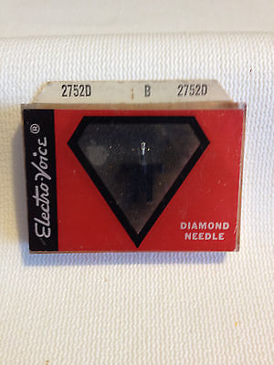 NEW Vintage Electro-Voice 2752D Diamond Phonograph Needle For GE C-660 NOS