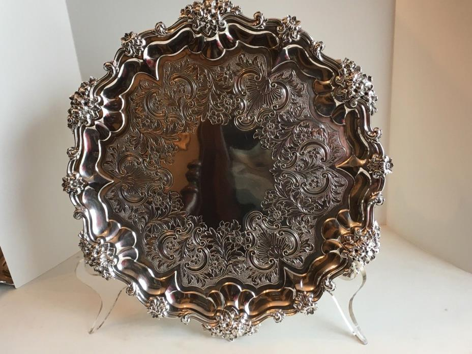 Antique William IV Sterling Silver Salver E.J.&W.Barnard London 1835 13 in 976GM