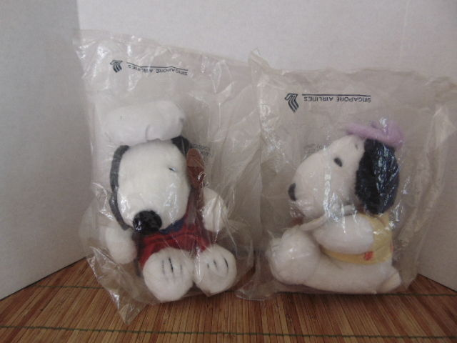 Singapore Airlines Artist Snoopy & Chef Snoopy Plush Retired
