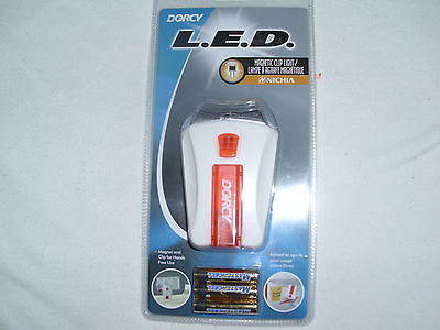 Dorcy 41 1420 LED Flashlight with magnectic clip and Batteries