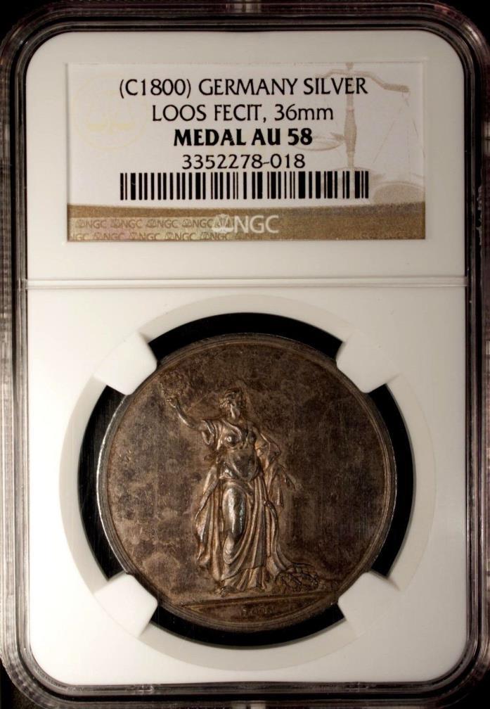 Germany Silver Medal C 1800  NGC AU 58  Loos Fecit.