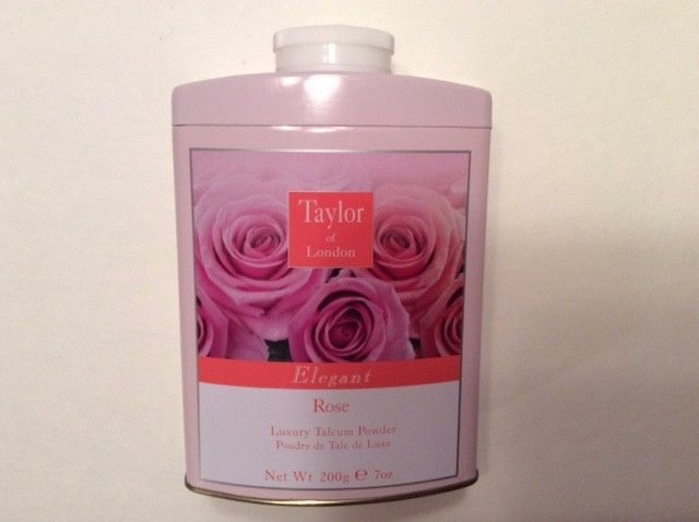 ROSE Talc-Taylor of London- Elegant  Luxury Talcum Powder 7oz.. 200g