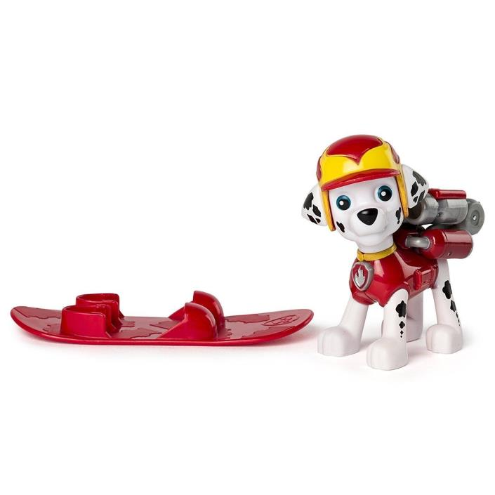 SNOWBOARD MARSHALL Action Pack Pup - Paw Patrol Winter Rescues - New Unopened