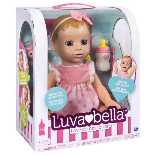 *LUVABELLA* BLONDE HAIR Responsive Baby Doll with Realistic Expressions