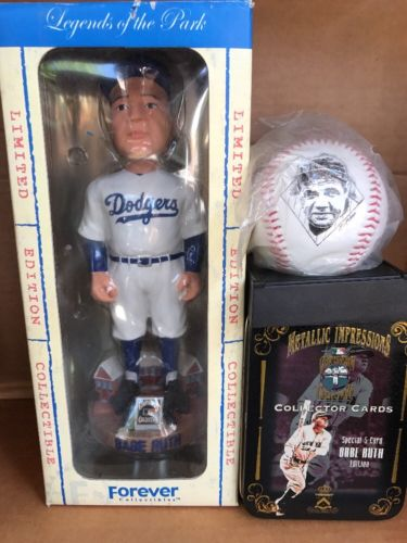 Babe Ruth BROOKLYN DODGERS Cooperstown Collection bobblehead #5714 Only + Extras