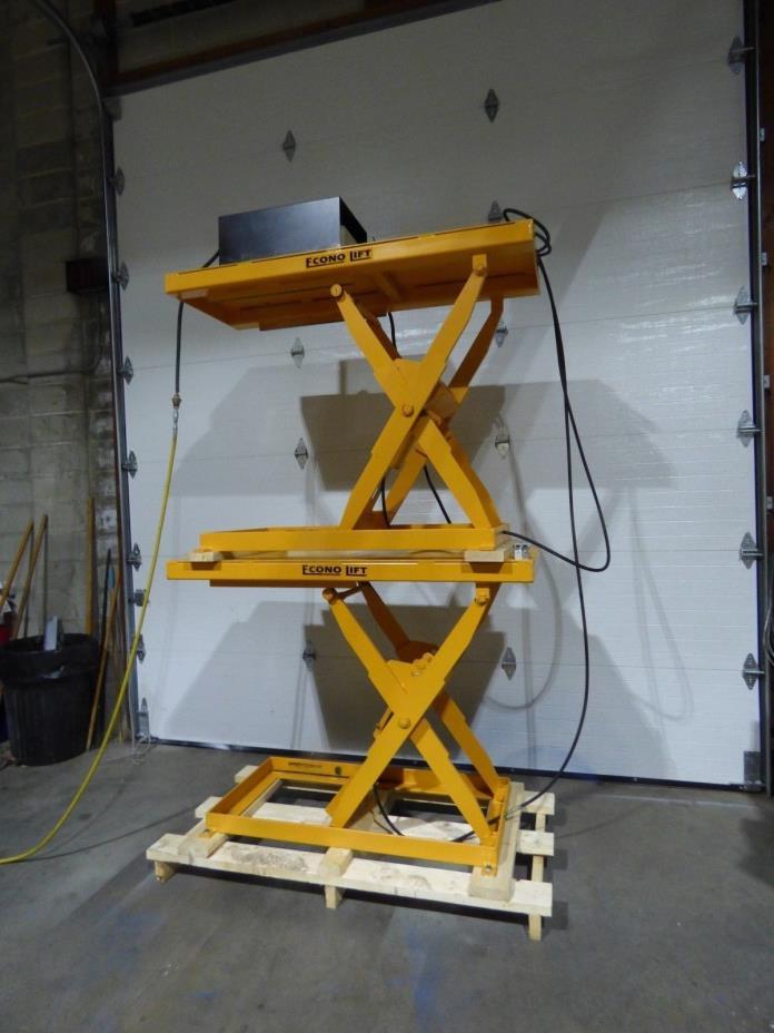 2 Econo Lift Scissor Lifts Air Over Hydraulic 24x60x45 1000lbs Each Sharp