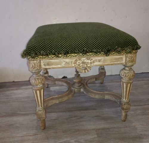 Antique French Foot Stool or Bench