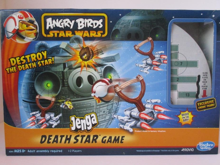 Angry Birds Star Wars Hasbro Fighter Pods Jenga Death Star Game Chewbacca Figure
