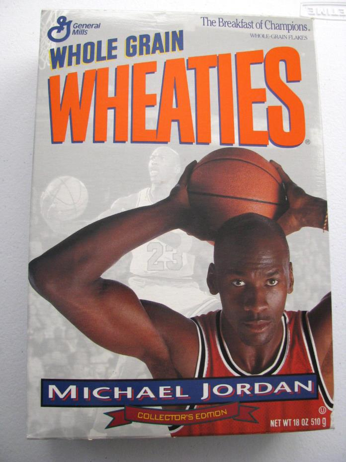 1993 Wheaties Full Cereal Box Michael Jordan Collectors Edition Sealed Unopened
