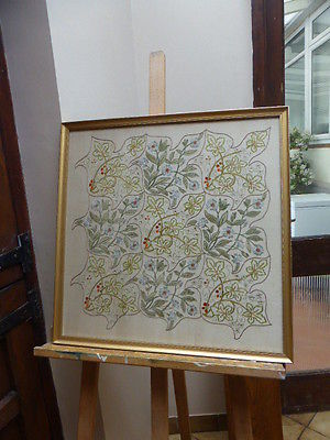 VICTORIAN ART NOUVEAU  CREWELWORK PICTURE FREE SHIPPING ENGLAND ONLY