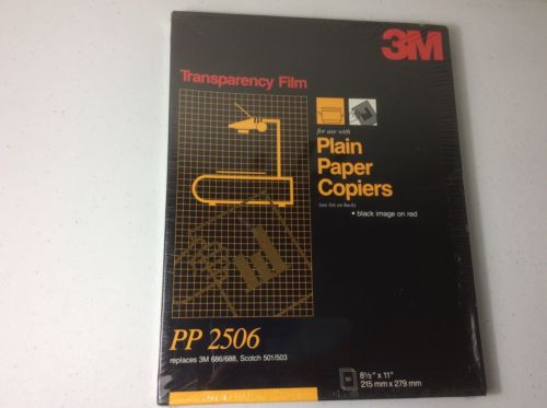 New 3M Transparency Film 50 Sheets PP2506 Black image on red