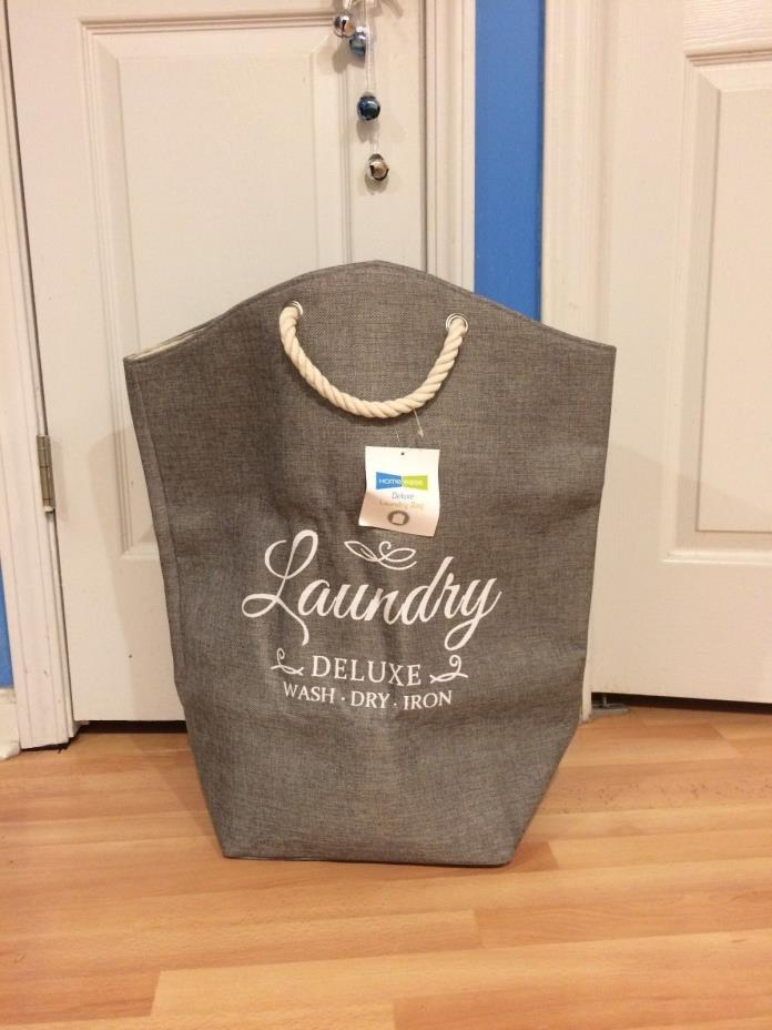 NEW Deluxe Laundry Bag with Rope Handles Beige 100% Polyester