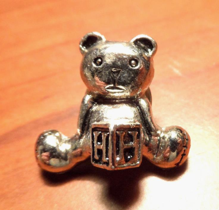 Mini TEDDY BEAR Broach Pin letter