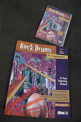 Rock drum instruction book and dvd