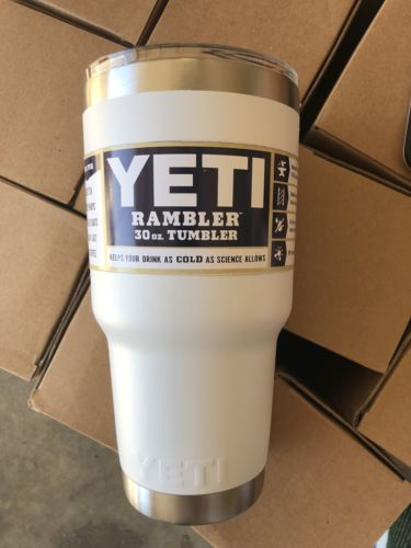 Lot Of 10 White Yeti 30oz Tumblers ... Fast Shipping