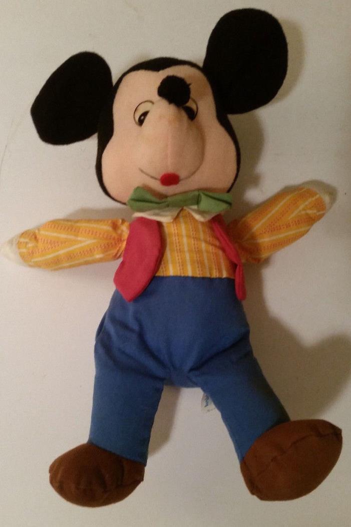 Vintage Mickey Mouse Plush Doll - Knickerbocker RARE toy