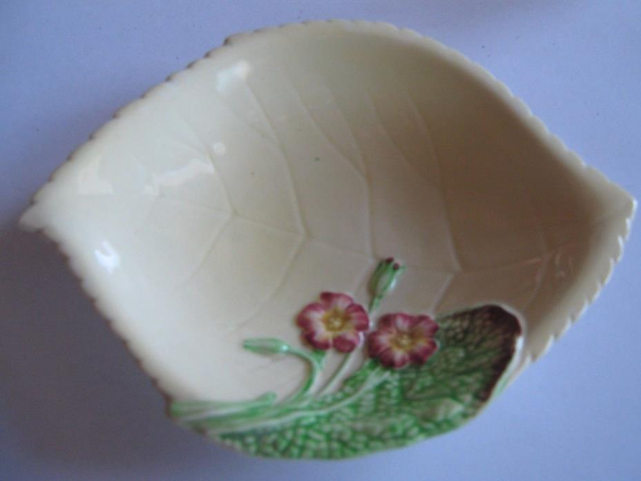 Vtg Yellow Carlton Ware Small Candy Dish Leaf Primrose Blossom England