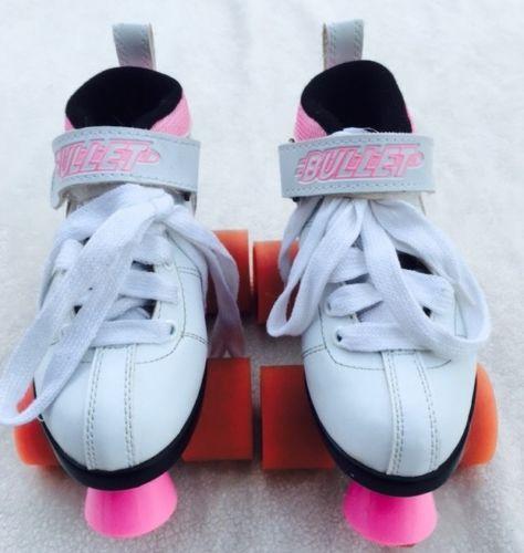 Vtg Roller Derby 409 Black Teal Roller Skates Red Front Stopper Youth Size 3