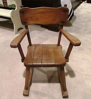 Vintage Child's Wooden Rocking Chair