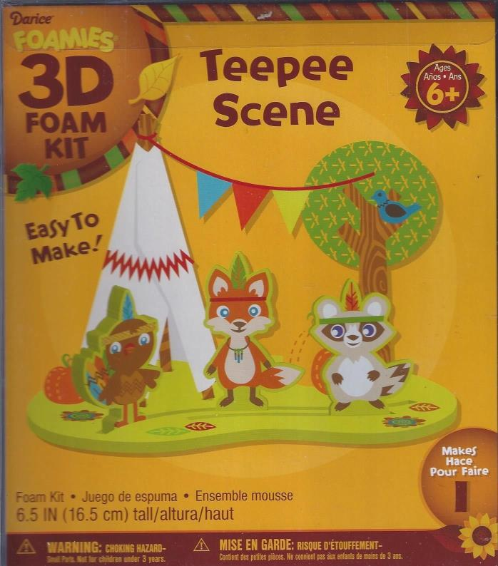 3-D Foamies Thanskgiving Teepee Scene