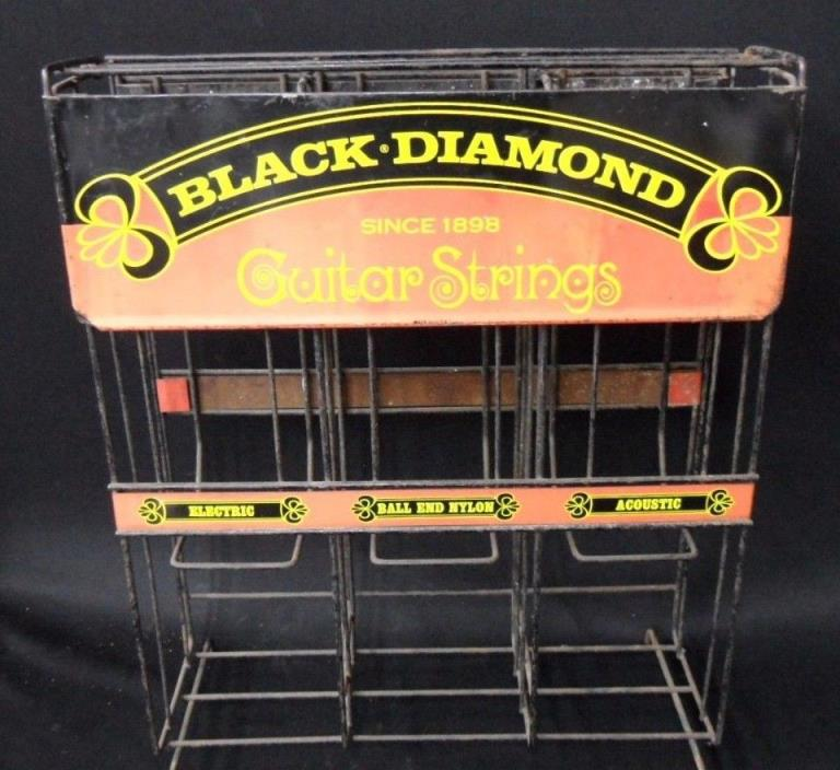 VINTAGE ADVERTISING DISPLAY GUITAR STRINGS BLACK DIAMOND SINCE 1898