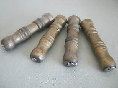 4 Vintage Wood Stool Legs