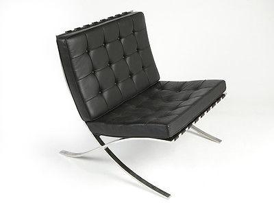 Knoll Barcelona Chair by Ludwig Mies van der Rohe- original circa 1960s -Black