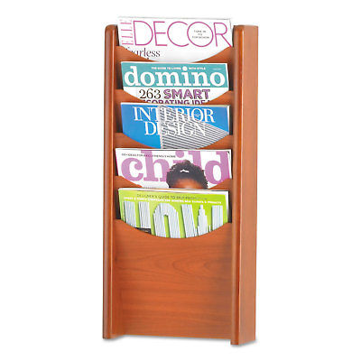Safco Solid Wood Wall-Mount Literature Display Rack - SAF4330CY
