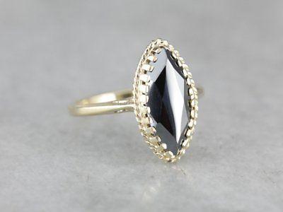 Hematite Phoebe Ring by Elizabeth Henry