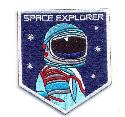 SPACE EXPLORER iron on embroidered patches patch astronaut planets stars nasa !@