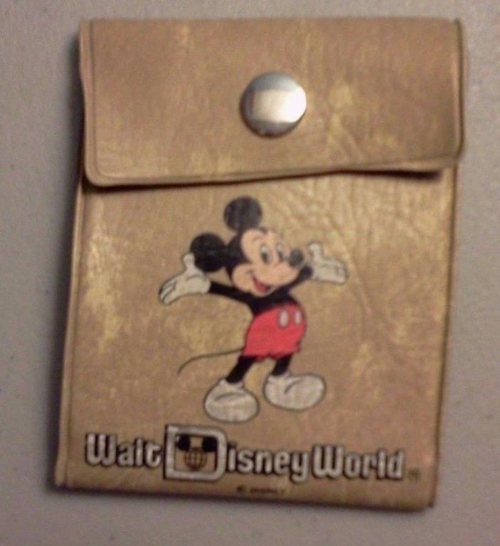 Vintage Walt Disney World Child Vinyl Wallet Mickey Mouse