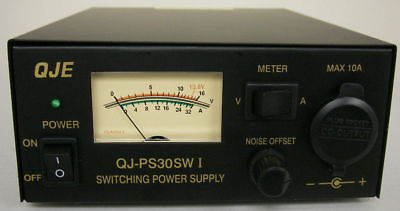 NEW QJE PS30SWI 30 Amp Switching Power Supply with Volt/Amp Meter