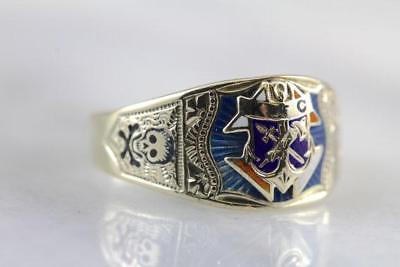 Antique Knights of Columbus, Fantastic Enameled Men's Ring